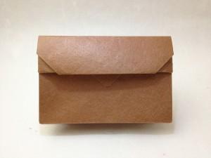 和紙のカードケース 柿渋